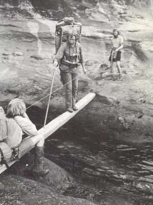 Bob Swanson on the Life Saving Trail - 1972