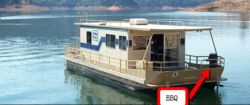 Houseboat with BBQ