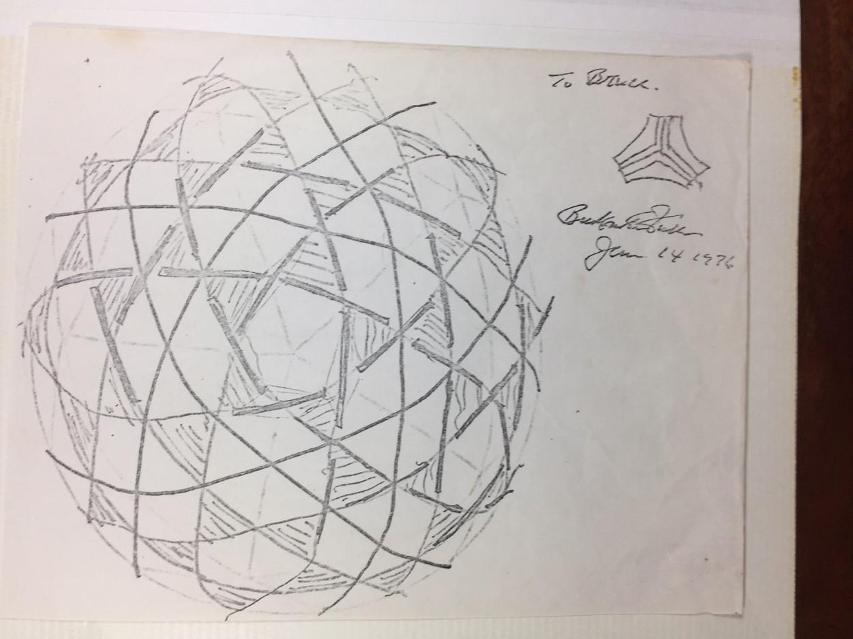 Bucky Fuller's Tensegrity Sketch