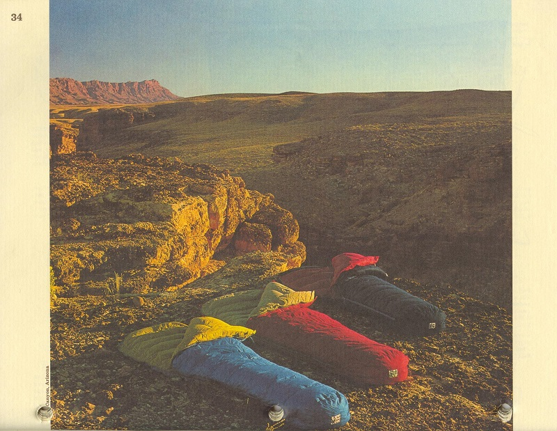 Sierra Designs Sleeping Bags from the 1974 Catalog