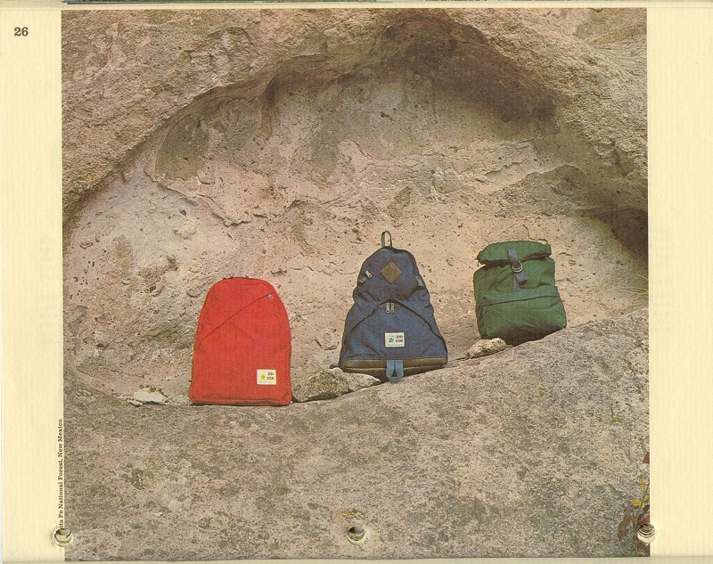 Sierra Designs Day Packs from the 1974 Catalog