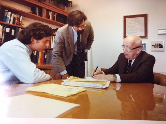 Bucky Fuller, Hap Klopp, Bruce Hamilton 1983