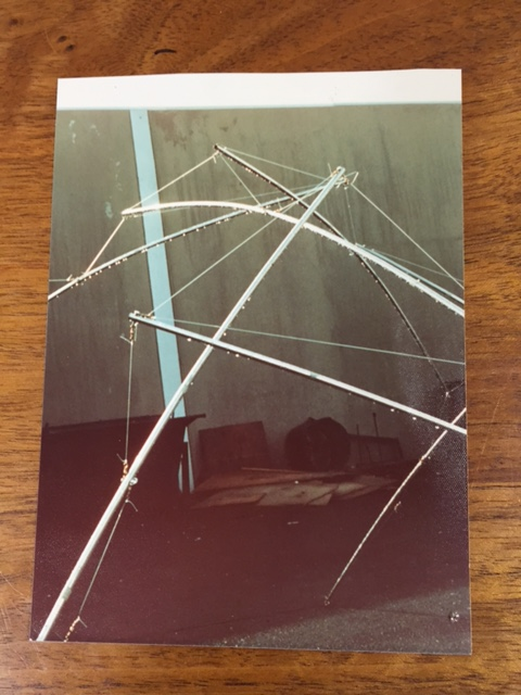 Early Try at a Tensegrity Tent