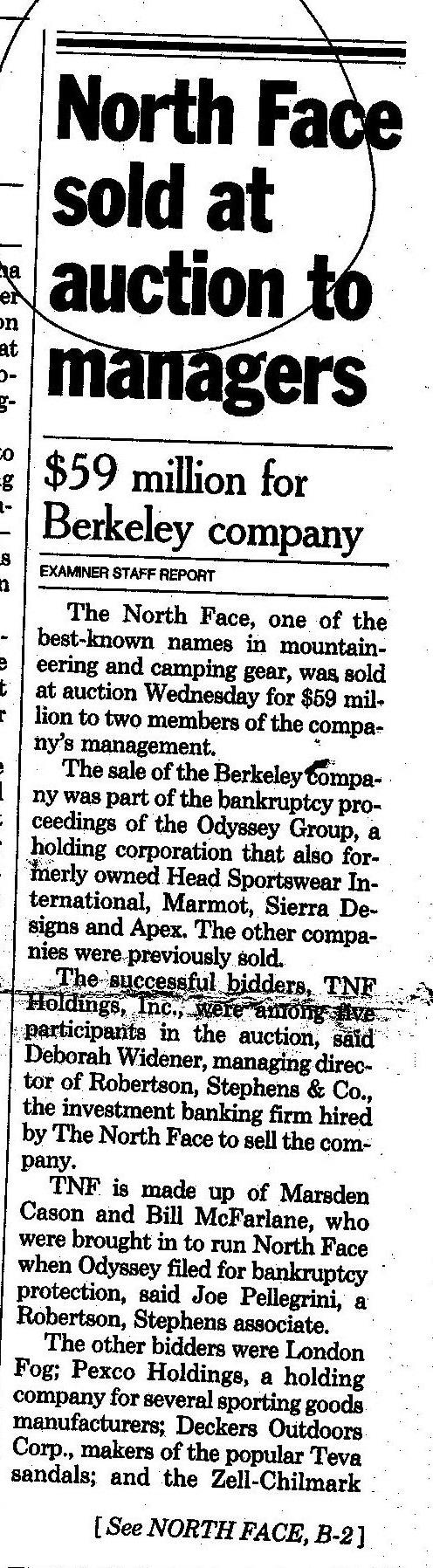 Examiner article about the TNF sale