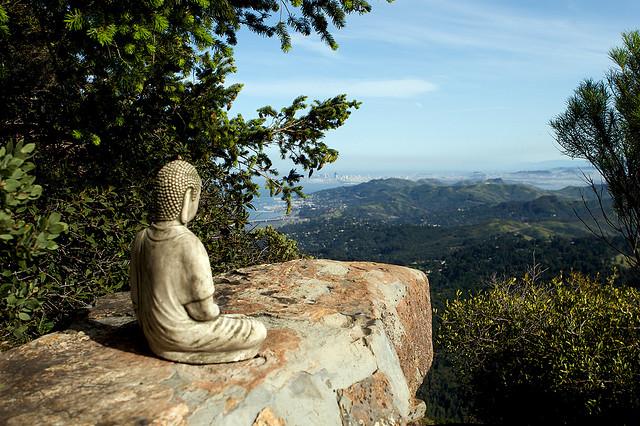 Buddha on trail