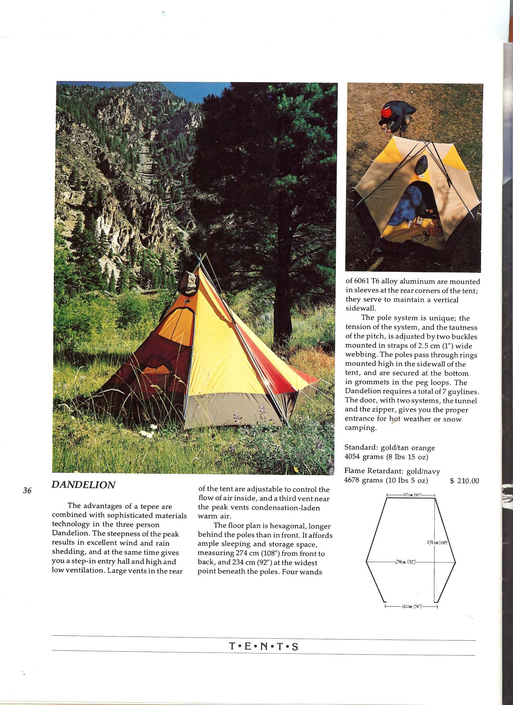 The North Face 1975 Catalog - Dandelion Tent