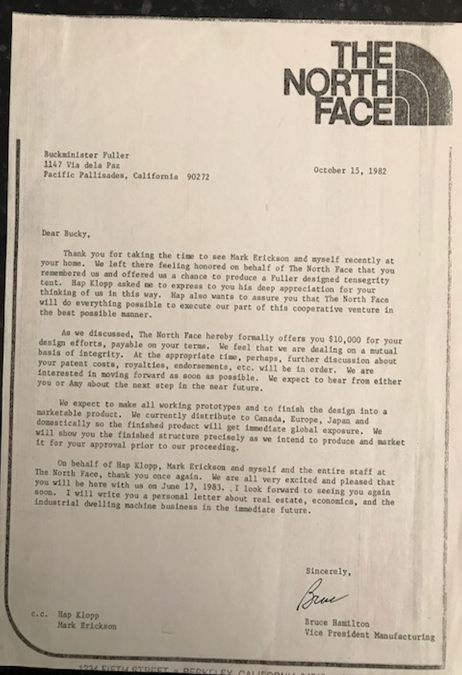 Letter to Bucky 10/15/82