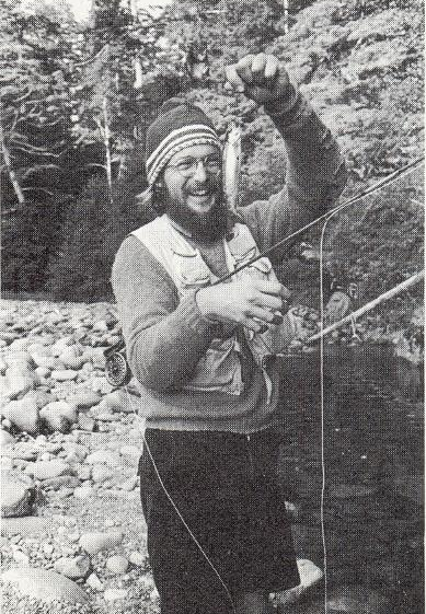 Fishing on the Vancouver Island Trail - From Sierra Designs 1973 Catalog