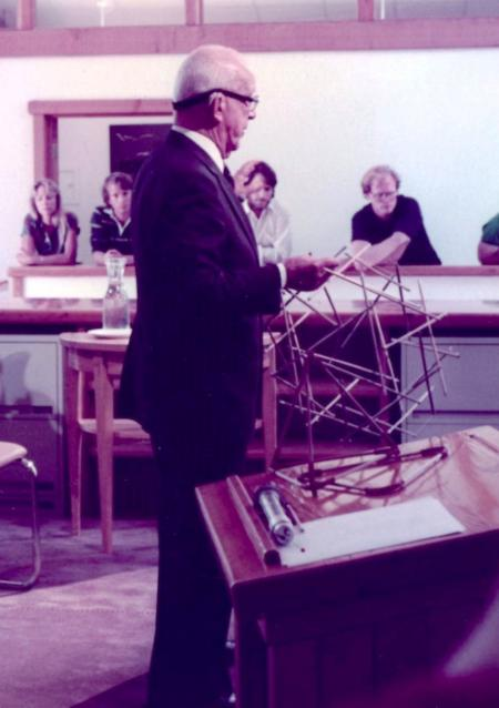 R Buckminster Fuller at The North Face Headquarters Dedication Ceremony