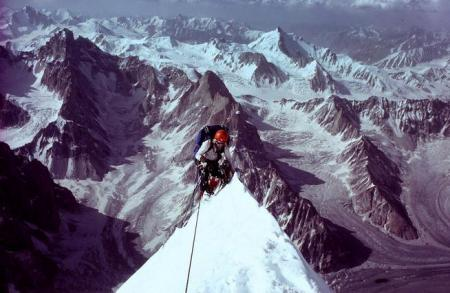 Jeff Lowe, climbing the North Ridge of Latok I in the Karakoram of northern Pakistan in 1978, made 1,000-plus first ascents during his extraordinary career.