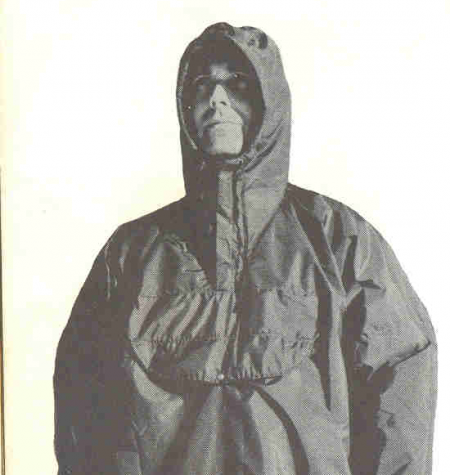 Doug Thompkin in Cagoule, 1966 Sierra Designs catalog