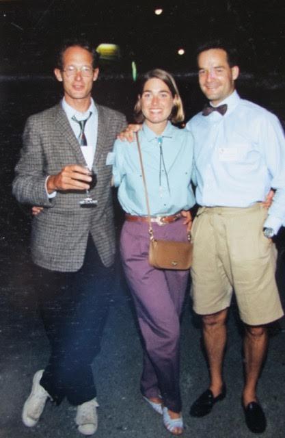 Bob Woodward, Tracy and sportswear designer Gib Mann TNF's Future Q