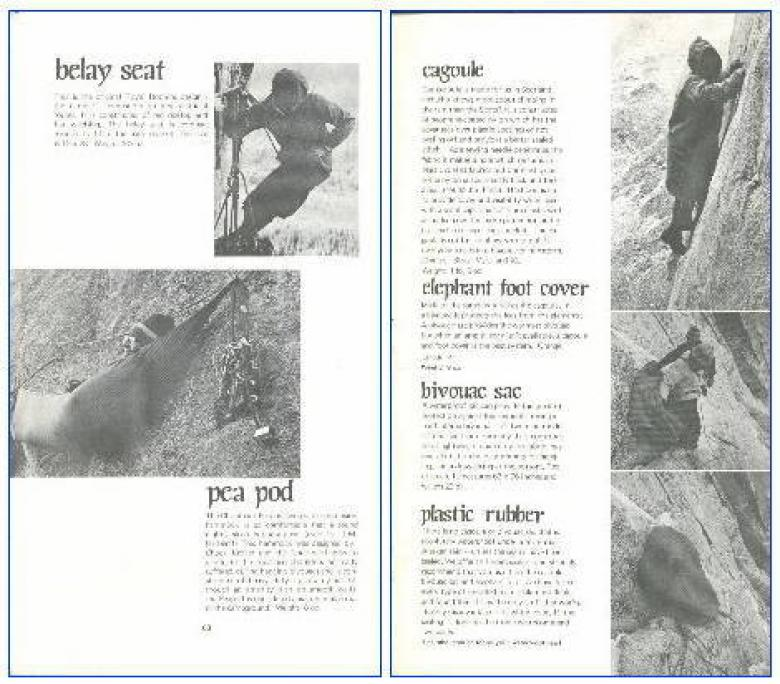 Patagonia Catalog 1972 pg 60 & 61