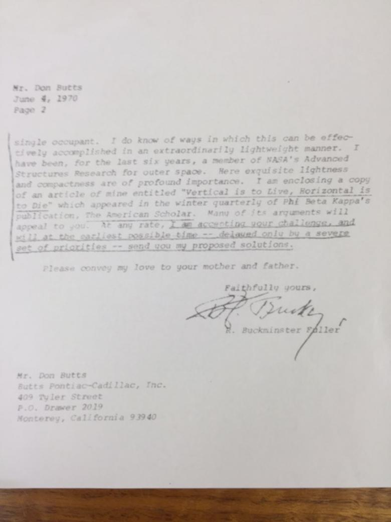 Bucky's Reply to Don Butts 1970 pg 2