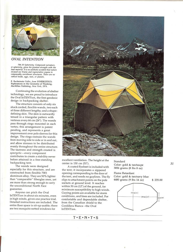 The North Face 1975 Catalog - Oval Intention Tent