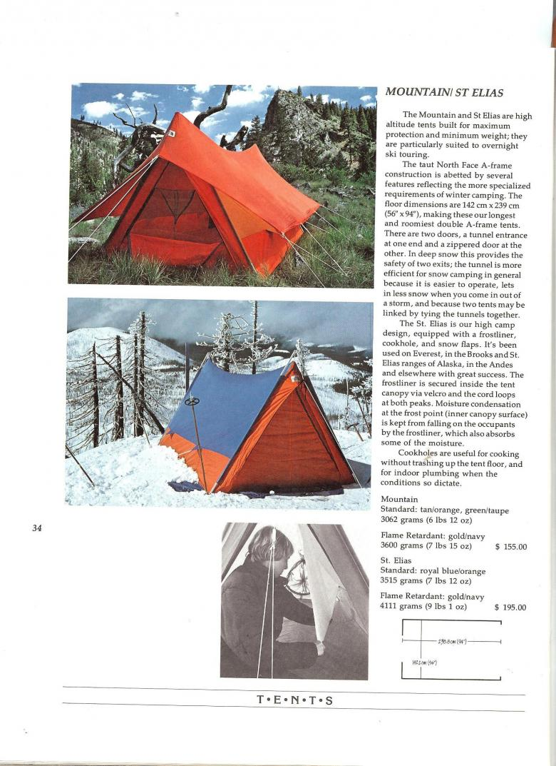 The North Face 1975 Catalog - Mountain and St Elias Tents