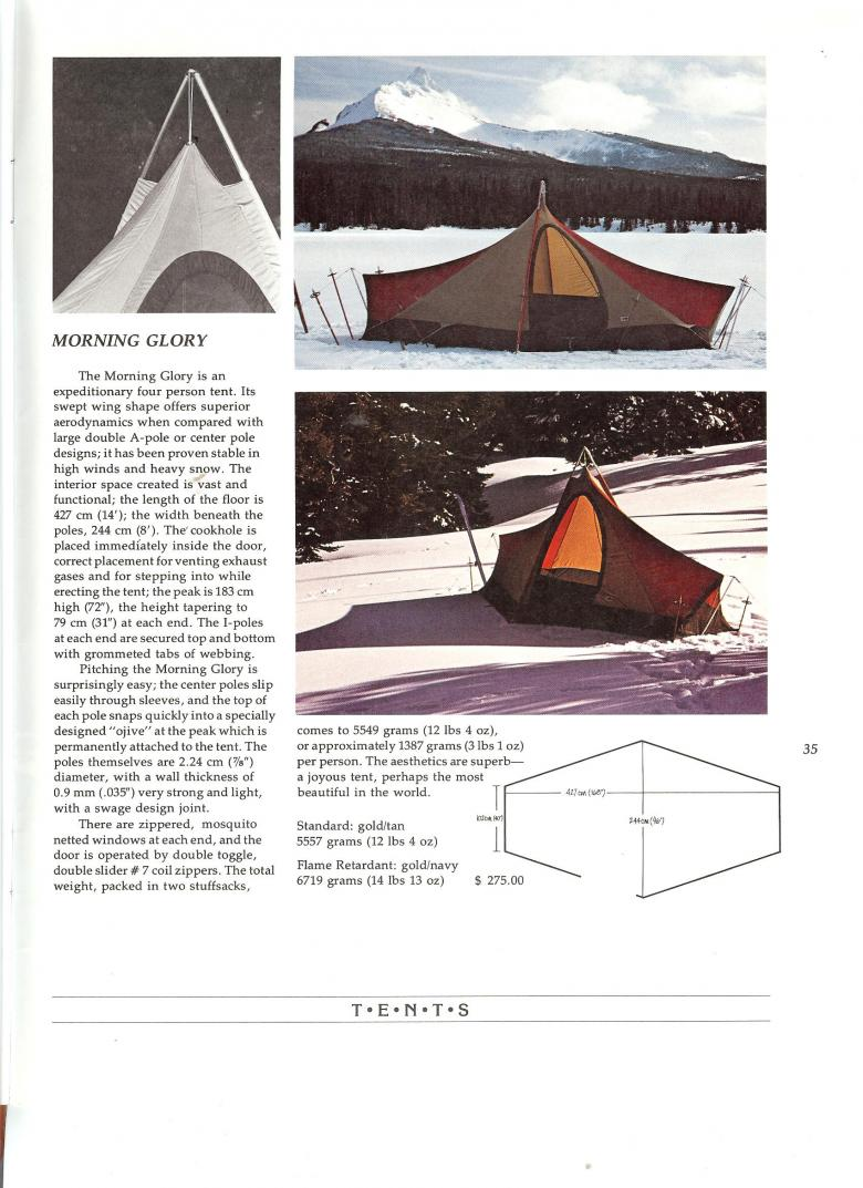 The North Face 1975 Catalog - Morning Glory Tent