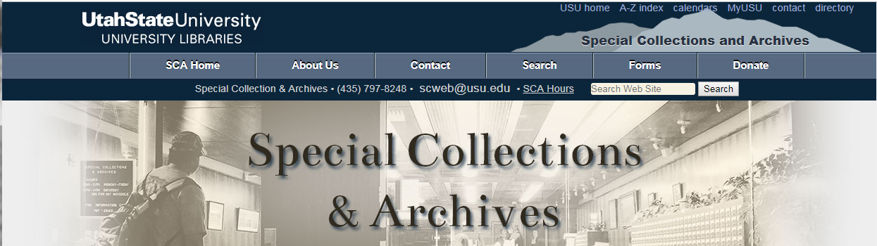UtahState University Special Collections and Archives