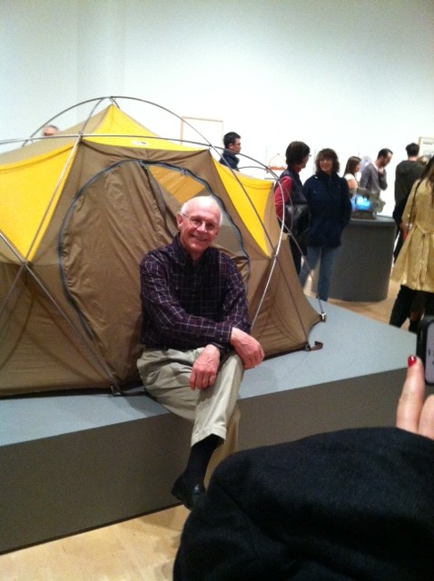 Bruce Hamilton with the Oval Intention, San Francisco MOMA