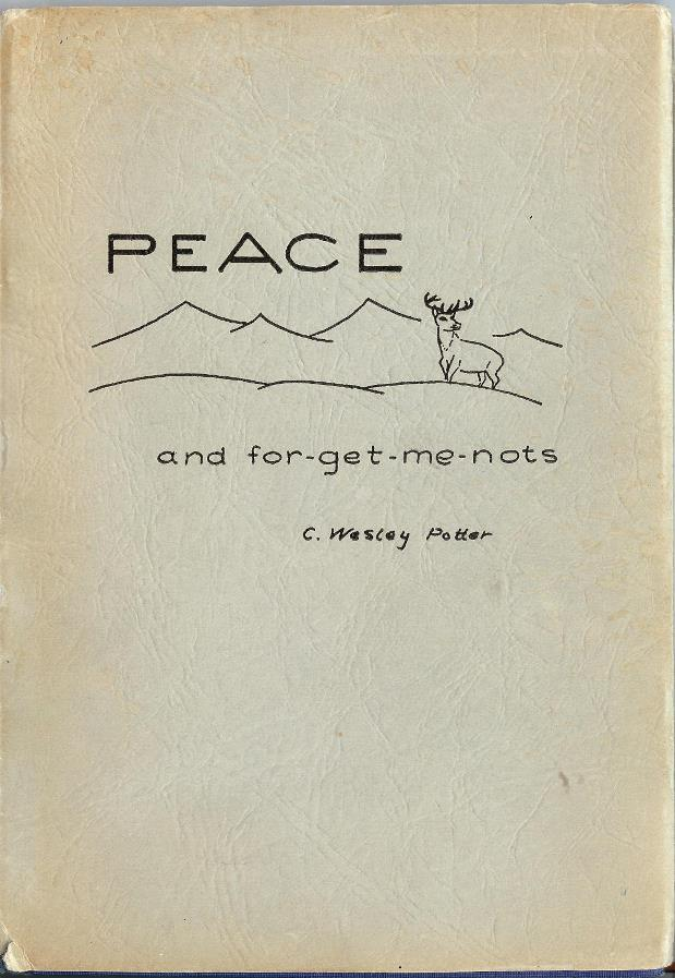 PEACE and for-get-me-nots cover